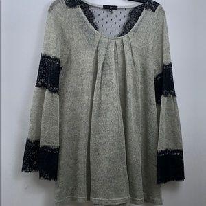 Anthropologie Ryu knit blouse size M